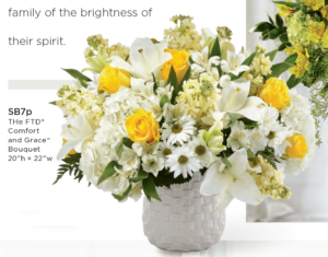 The FTD Comfort And Grace Bouquet SB7p